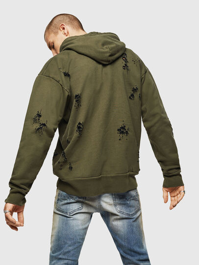 Diesel - S-ALBY-RIP, Vert Militaire - Pull Cotton - Image 2