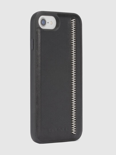 Diesel - ZIP BLACK LEATHER IPHONE 8/7/6s/6 CASE, Noir - Coques - Image 5
