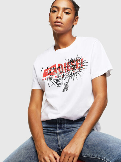 Diesel - T-DARIA-YC, Blanc - T-Shirts - Image 4