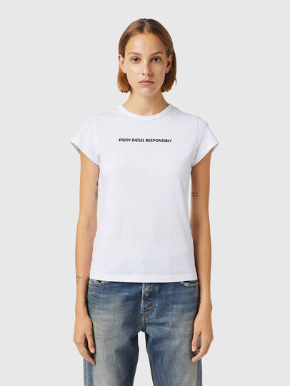 Diesel - T-SLICUP-B3, Blanc - T-Shirts - Image 1