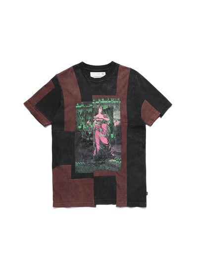 Diesel - D-FRANK&STEIN, Rouge/Noir - T-Shirts - Image 1