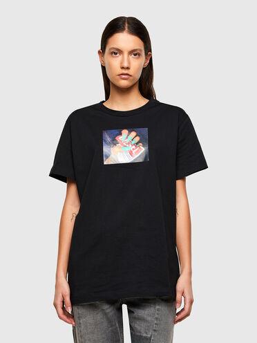 T-shirt avec photo imprimée par transfert