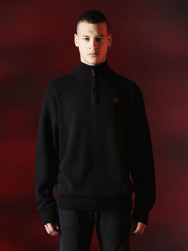 Diesel - DVL-KNIT-SPECIAL COLLECTION, Noir - Pull Maille - Image 1