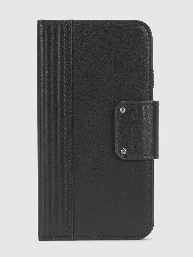 Diesel - BLACK LINED LEATHER IPHONE 8/7 FOLIO, Noir - Coques à rabat - Image 3