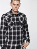 S-EAST-LONG-C, Noir/Blanc - Chemises