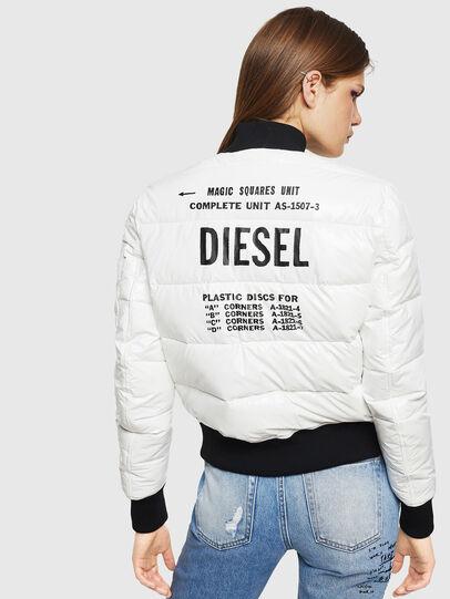 Diesel - W-ONY, Blanc - Vestes d'hiver - Image 2