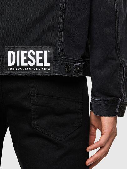 Diesel - NHILL-SP4, Noir - Vestes en denim - Image 5