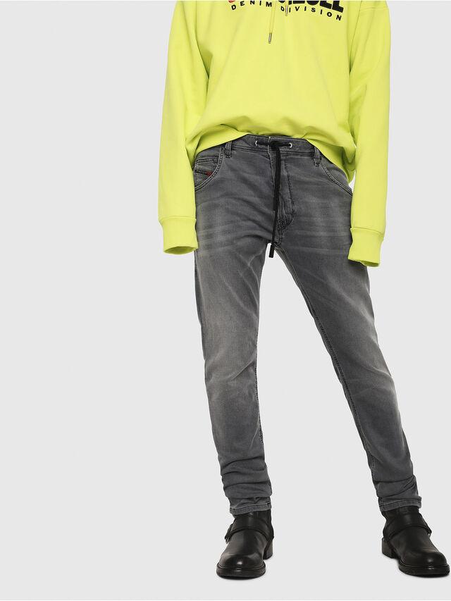 Diesel - Krooley JoggJeans 069EH, Noir/Gris foncé - Jeans - Image 1