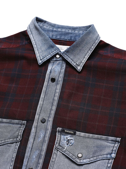 Diesel - D-DEEPCHECK-B, Rouge - T-Shirts - Image 4
