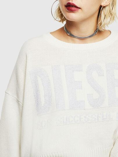 Diesel - M-LUREXY, Blanc - Pull Maille - Image 3