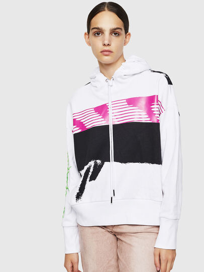 Diesel - F-MAGDALENA, Blanc - Pull Cotton - Image 1