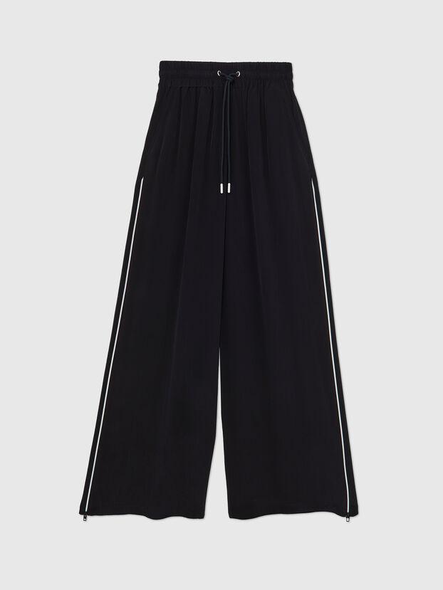 P-CHINILLE-WOV, Noir - Pantalons
