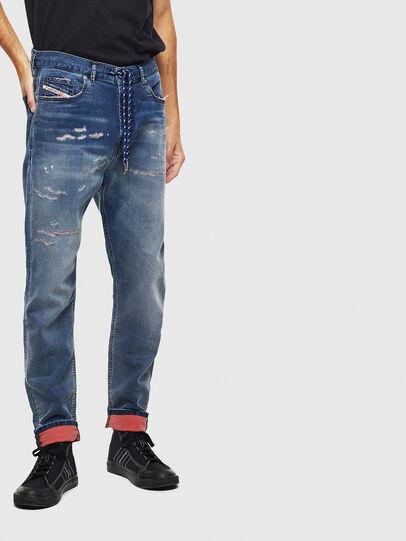 Diesel - D-Vider JoggJeans 069LW, Bleu Foncé - Jeans - Image 1
