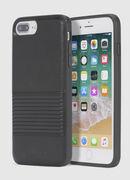 BLACK LINED LEATHER IPHONE 8 PLUS/7 PLUS/6s PLUS/6 PLUS CASE, Noir - Coques
