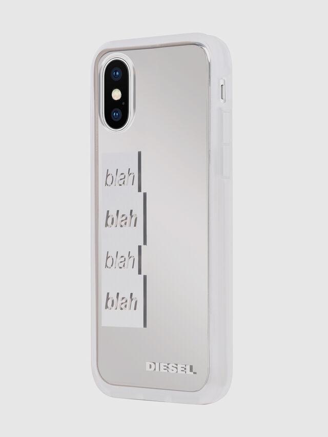 BLAH BLAH BLAH IPHONE X CASE, Blanc/Gris argenté