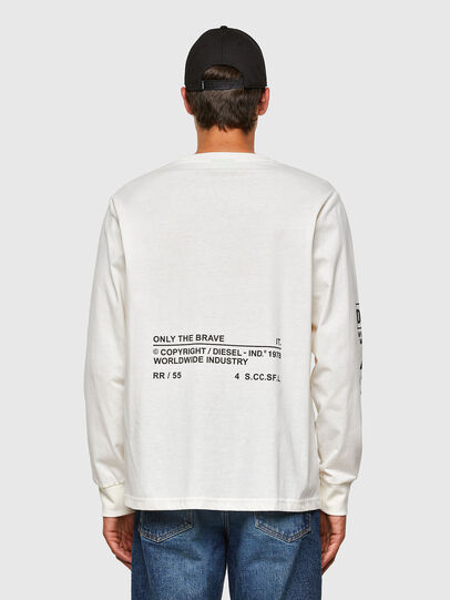 Diesel - T-JUST-LS-N60, Blanc - T-Shirts - Image 2