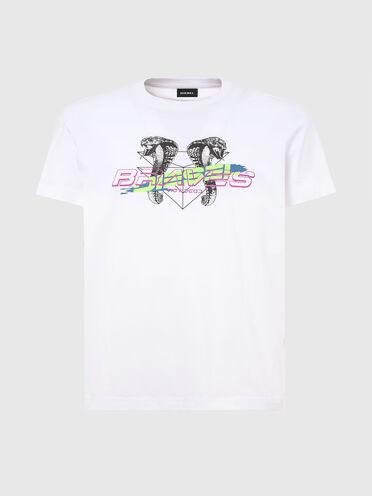 T-shirt avec logo imprimé et cobras