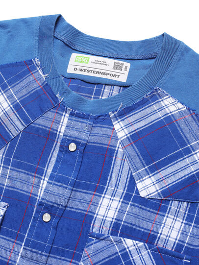Diesel - D-WESTERNSPORT, Bleu Clair - T-Shirts - Image 4