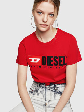 T-SILY-DIVISION, Rouge Flamme - T-Shirts