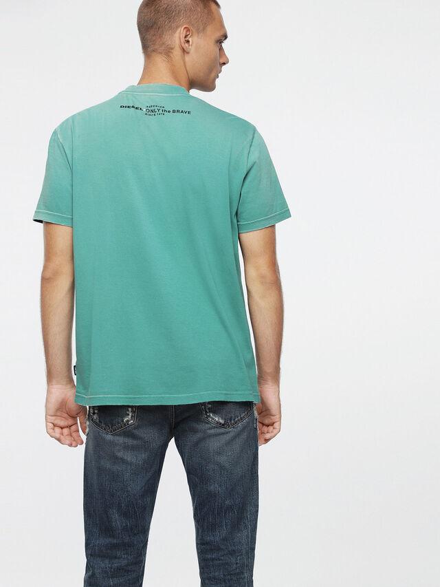 Diesel T-JOEY-T, Vert d'Eau - T-Shirts - Image 2