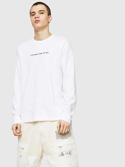 Diesel - T-JUST-LS-COPY, Blanc - T-Shirts - Image 1