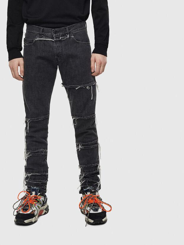 D-Kras 009CD, Noir/Gris foncé - Jeans