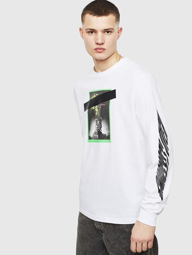 T-JUST-LS-T13, Blanc - T-Shirts