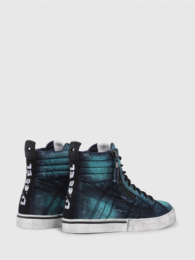 Diesel - D-VELOWS MID LACE, Turquoise - Baskets - Image 3