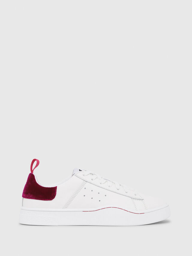 Diesel - S-CLEVER LOW W, Blanc/Rouge - Baskets - Image 1