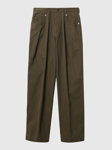 Pantalon large en gabardine
