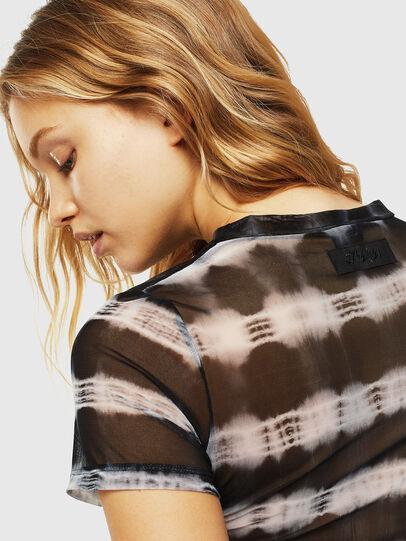 Diesel - UFTEE-ROUNDFEM-M, Noir/Blanc - T-Shirts - Image 4