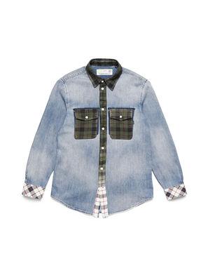 D-DEEPCHECK-A, Bleu Clair - Chemises en Denim