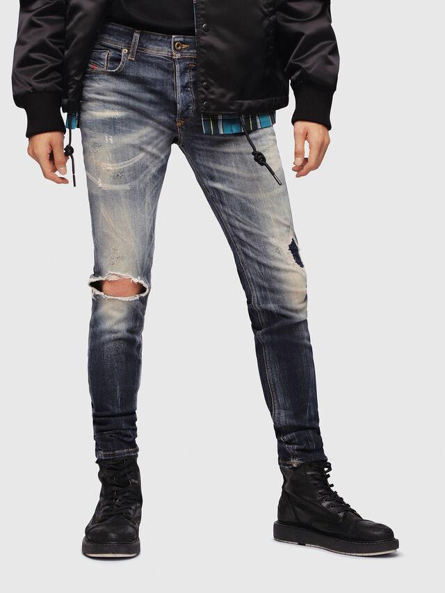 Diesel - Sleenker 069DJ, Bleu Foncé - Jeans - Image 1