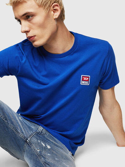 Diesel - T-DIEGO-DIV, Bleu Brillant - T-Shirts - Image 3
