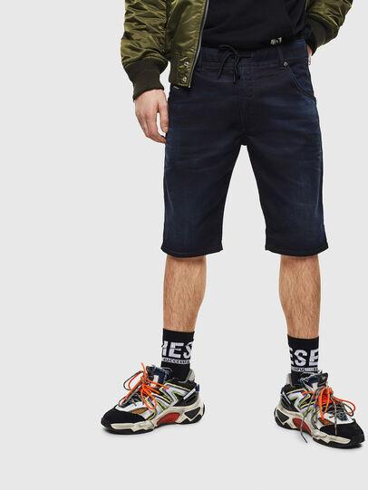 Diesel - D-KROOSHORT JOGGJEANS, Bleu Foncé - Shorts - Image 1