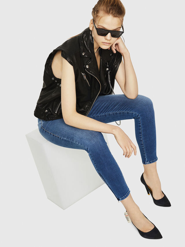 Diesel - Slandy Zip 084NM, Bleu moyen - Jeans - Image 5