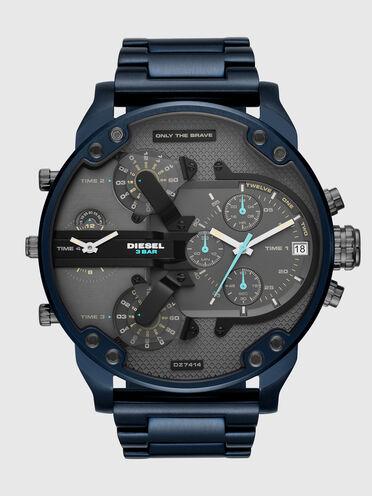 Mr. Daddy 2.0 montre chronographe en acier inoxydable bleu