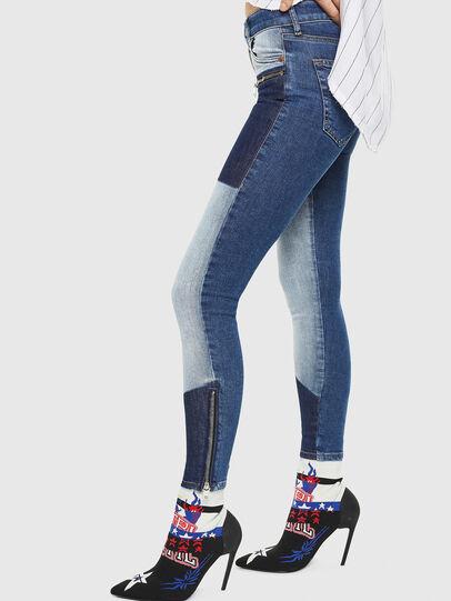 Diesel - Slandy Zip 0890L, Bleu moyen - Jeans - Image 6