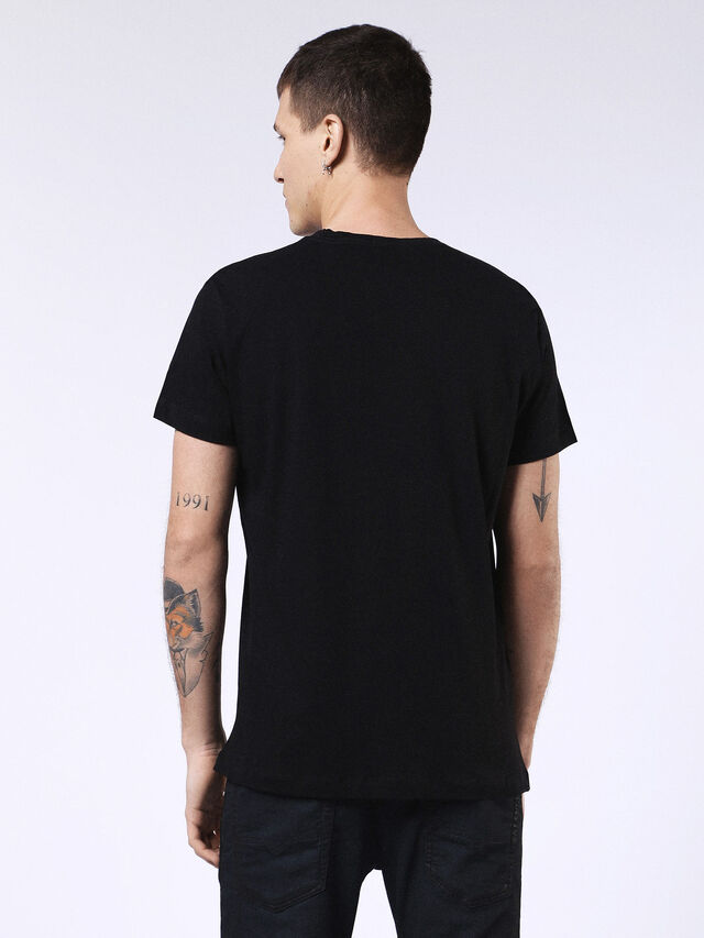 DVL-T-SHIRT-ML-RE, Noir