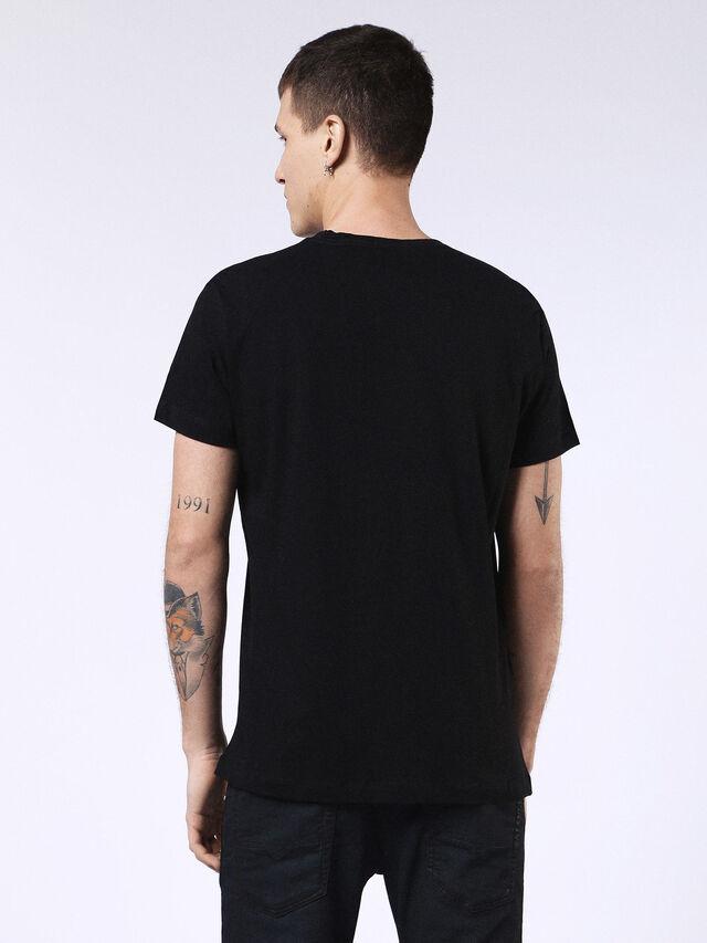 Diesel - DVL-T-SHIRT-ML-RE, Noir - T-Shirts - Image 2