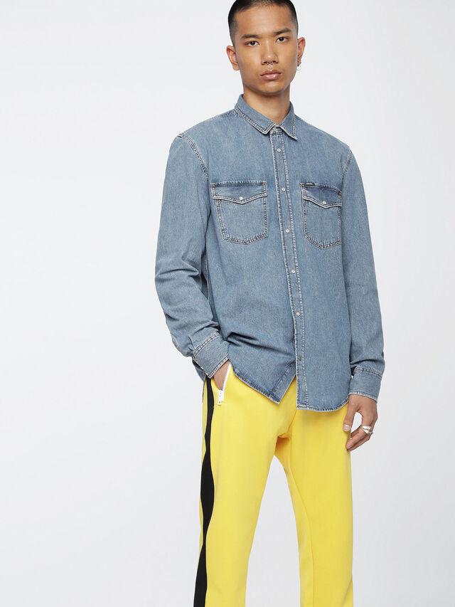 Diesel - D-ROOKE, Jean Bleu - Chemises en Denim - Image 1