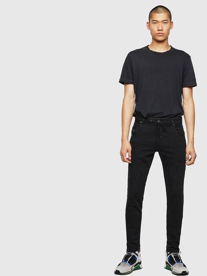 Diesel - Krooley JoggJeans 0092N, Noir/Gris foncé - Jeans - Image 6