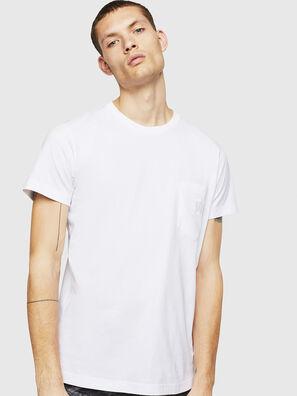 T-DIEGO-POCKET-B1, Blanc - T-Shirts
