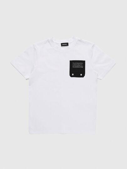 Diesel - TBMOW, Blanc/Noir - T-shirts et Hauts - Image 1