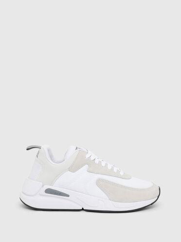 Sneakers en tissu indéchirable et en daim