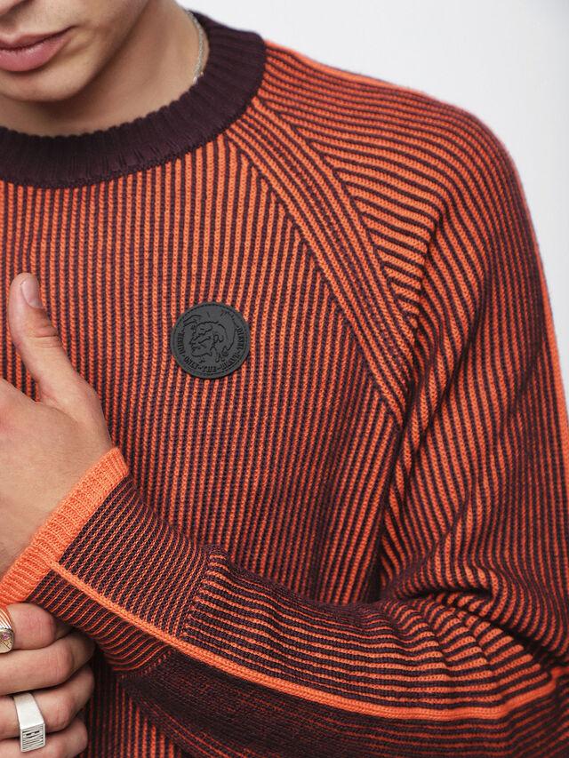 Diesel - K-BLEND, Orange/Noir - Pull Maille - Image 3