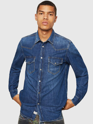 D-EAST-P, Jean Bleu - Chemises en Denim