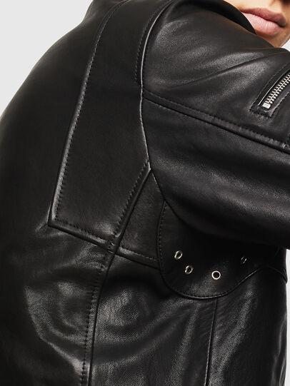 Diesel - L-TOVMAS, Noir - Vestes de cuir - Image 5