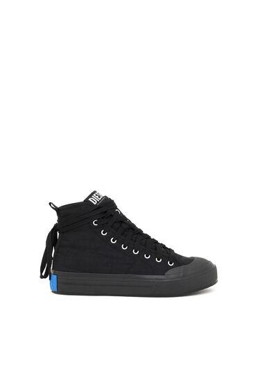 Sneakers montantes asymétriques en nylon