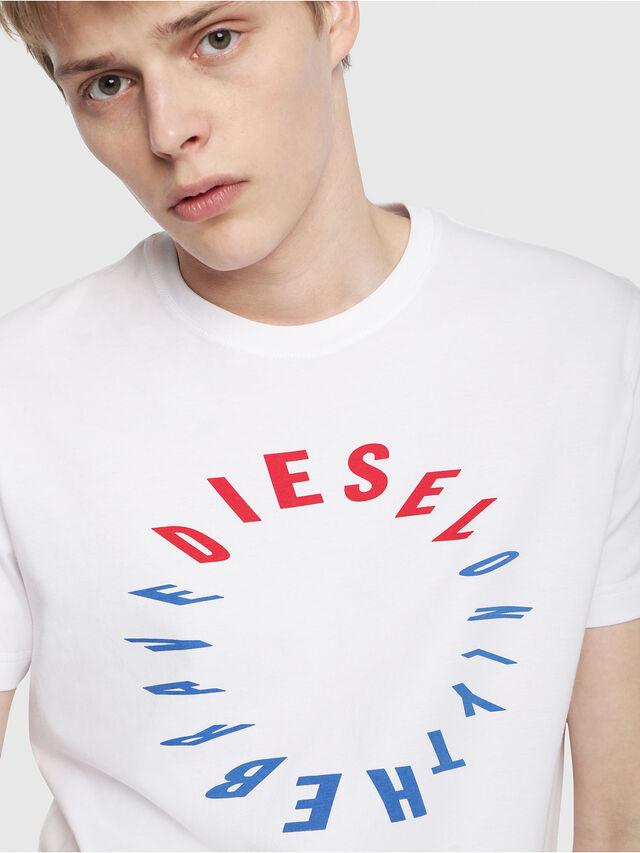 Diesel - T-DIEGO-Y2, Blanc - T-Shirts - Image 3